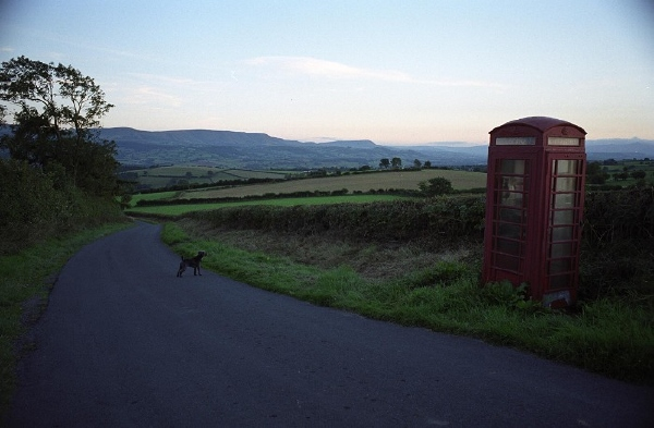 Phone box on Clyro Hill 1: September 18th, 2005.