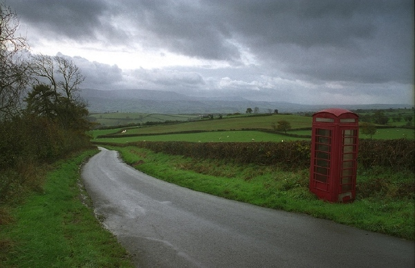 Phone box on Clyro Hill 2: November 8th, 2005.