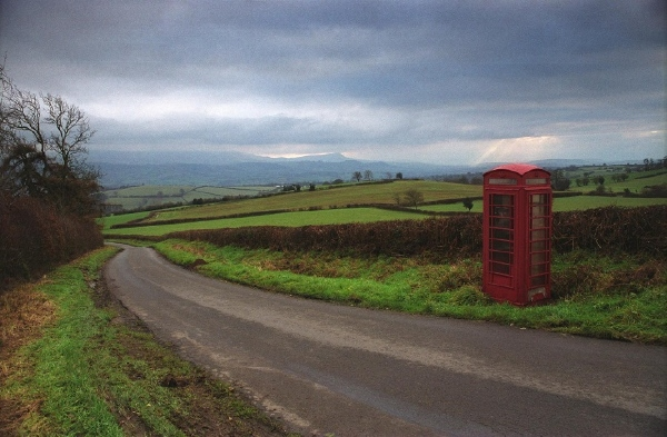 Phone box on Clyro Hill 5: December 6th, 2005.