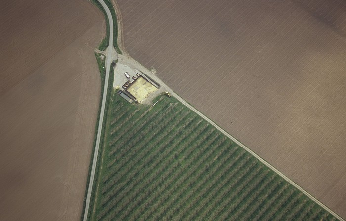 Hop fields from the air