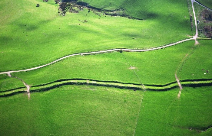 Offa's dyke path from the air